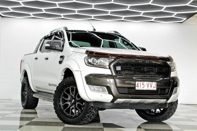 Used Ford Ranger PX MkII Wildtrak 3.2 (4x4) Burleigh Heads, 2015 Ford Ranger PX MkII Wildtrak 3.2 (4x4) White 6 Speed Automatic Dual Cab Pick-up
