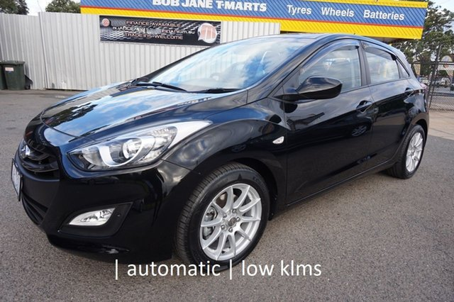 Used Hyundai i30 GD2 Active Dandenong, 2013 Hyundai i30 GD2 Active Phantom Black 6 Speed Sports Automatic Hatchback