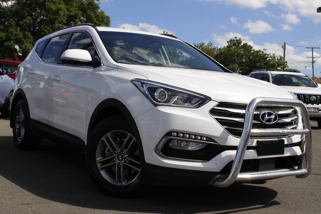 Used Hyundai Santa Fe DM5 MY18 Active Mount Gravatt, 2018 Hyundai Santa Fe DM5 MY18 Active White 6 Speed Sports Automatic Wagon