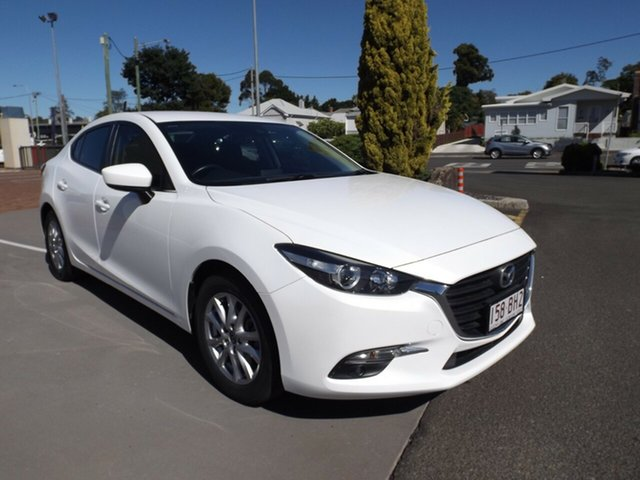 Used Mazda 3 BM5276 Maxx SKYACTIV-MT Toowoomba, 2016 Mazda 3 BM5276 Maxx SKYACTIV-MT Snowflake White 6 Speed Manual Sedan
