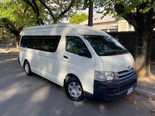 2010 Toyota HiAce KDH223R MY10 Commuter High Roof Super LWB White 4 Speed Automatic Bus.