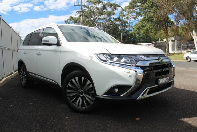 Demo Mitsubishi Outlander ZL MY21 Exceed AWD North Gosford, 2020 Mitsubishi Outlander ZL MY21 Exceed AWD White 6 Speed Sports Automatic Wagon