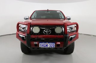 2018 Toyota Hilux GUN126R MY17 SR5 (4x4) Red 6 Speed Automatic Dual Cab Utility.