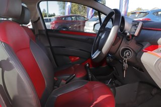 2011 Holden Barina Spark MJ MY11 CDX Chilli Red/leather 5 Speed Manual Hatchback