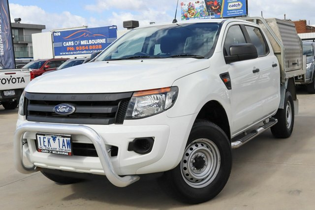 Used Ford Ranger PX XL Hi-Rider Coburg North, 2015 Ford Ranger PX XL Hi-Rider White 6 Speed Sports Automatic Cab Chassis