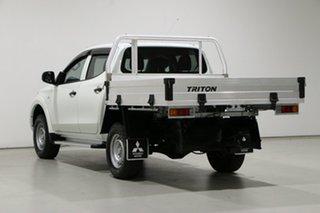 2017 Mitsubishi Triton MQ MY17 GLX (4x4) White 6 Speed Manual Dual Cab Chassis