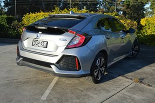2017 Honda Civic 10th Gen MY17 VTi-LX Silver, Chrome 1 Speed Constant Variable Hatchback.