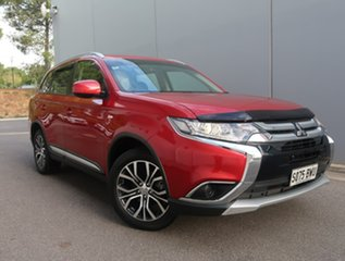 2017 Mitsubishi Outlander ZK MY18 LS AWD Safety Pack Red 6 Speed Constant Variable Wagon.