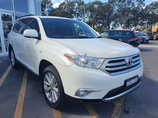 2012 Toyota Kluger GSU45R MY12 Altitude AWD White 5 Speed Sports Automatic Wagon.
