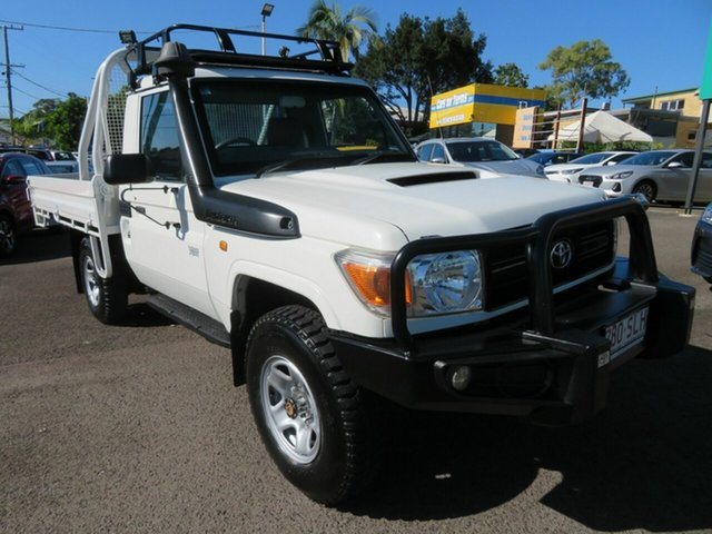 Used Toyota Landcruiser VDJ79R MY10 Workmate Mount Gravatt, 2012 Toyota Landcruiser VDJ79R MY10 Workmate White 5 Speed Manual Cab Chassis