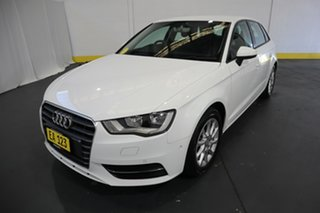 2015 Audi A3 8V MY16 Attraction Sportback S Tronic White 7 Speed Sports Automatic Dual Clutch