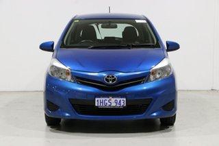 2013 Toyota Yaris NCP130R YR Blue 4 Speed Automatic Hatchback.