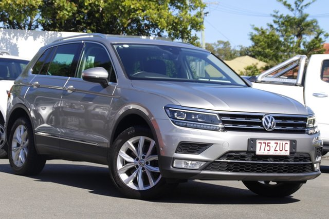 Used Volkswagen Tiguan 5N MY17 162TSI DSG 4MOTION Highline Mount Gravatt, 2017 Volkswagen Tiguan 5N MY17 162TSI DSG 4MOTION Highline Silver 7 Speed
