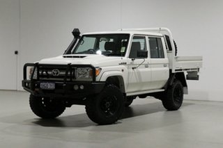2021 Toyota Landcruiser 70 Series VDJ79R GXL White 5 Speed Manual Double Cab Chassis.