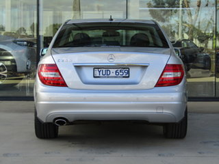 2012 Mercedes-Benz C-Class W204 MY12 C200 BlueEFFICIENCY 7G-Tronic + Silver 7 Speed Sports Automatic