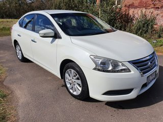 2013 Nissan Pulsar B17 ST White Constant Variable Sedan.