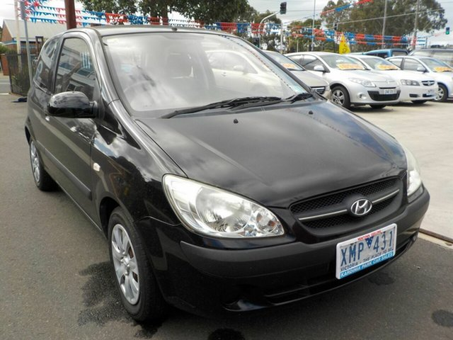 Used Hyundai Getz TB MY09 S Newtown, 2009 Hyundai Getz TB MY09 S Black 5 Speed Manual Hatchback