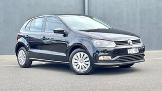 2016 Volkswagen Polo 6R MY16 66TSI DSG Trendline Black 7 Speed Sports Automatic Dual Clutch.