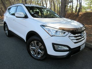 2013 Hyundai Santa Fe DM MY14 Active White 6 Speed Sports Automatic Wagon.