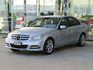 2012 Mercedes-Benz C-Class W204 MY12 C200 BlueEFFICIENCY 7G-Tronic + Silver 7 Speed Sports Automatic.