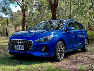 2017 Hyundai i30 PD MY18 SR Marina Blue 6 Speed Manual Hatchback