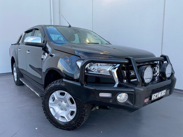 Used Ford Ranger PX MkII 2018.00MY XLT Double Cab Liverpool, 2018 Ford Ranger PX MkII 2018.00MY XLT Double Cab Black 6 Speed Sports Automatic Utility