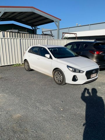 Used Hyundai i30 PD MY18 Active North Rockhampton, 2018 Hyundai i30 PD MY18 Active White 6 Speed Manual Hatchback