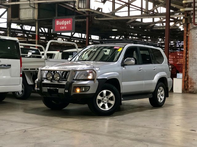 Used Toyota Landcruiser Prado KZJ120R VX Mile End South, 2004 Toyota Landcruiser Prado KZJ120R VX Silver 4 Speed Automatic Wagon