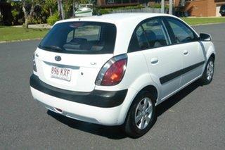 2008 Kia Rio JB MY07 LX White 4 Speed Automatic Hatchback.