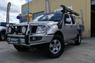 2009 Nissan Navara D40 ST-X (4x4) Silver 6 Speed Manual Dual Cab Pick-up.
