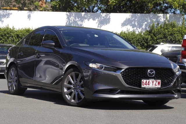 Used Mazda 3 BP2HLA G25 SKYACTIV-Drive GT Mount Gravatt, 2019 Mazda 3 BP2HLA G25 SKYACTIV-Drive GT Grey 6 Speed Sports Automatic Hatchback