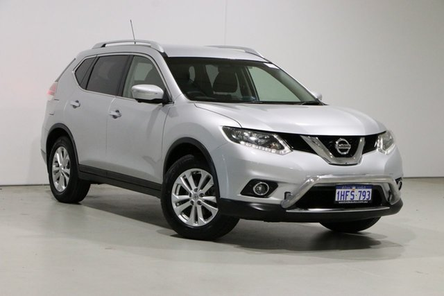 Used Nissan X-Trail T32 ST-L (FWD) Bentley, 2014 Nissan X-Trail T32 ST-L (FWD) Silver Continuous Variable Wagon