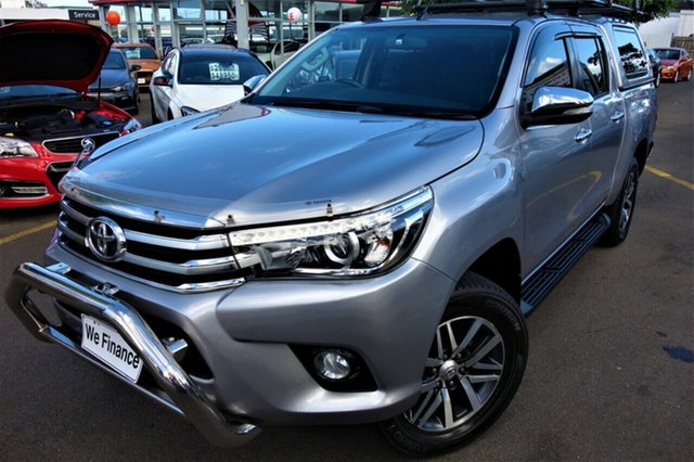 Used Toyota Hilux GUN126R SR5 Double Cab Seaford, 2016 Toyota Hilux GUN126R SR5 Double Cab Silver 6 Speed Sports Automatic Utility