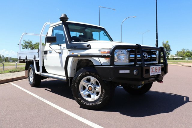 Pre-Owned Toyota Landcruiser VDJ79R GXL Palmerston, 2016 Toyota Landcruiser VDJ79R GXL French Vanilla 5 Speed Manual Cab Chassis