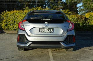 2017 Honda Civic 10th Gen MY17 VTi-LX Silver, Chrome 1 Speed Constant Variable Hatchback