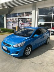2018 Hyundai Accent RB6 MY18 Sport Blue Lagoon 6 Speed Sports Automatic Sedan.
