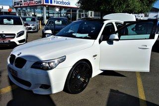 2009 BMW 5 Series E60 MY08 520d Steptronic White 6 Speed Sports Automatic Sedan