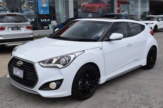 2017 Hyundai Veloster FS5 Series II SR Coupe Turbo White 6 Speed Manual Hatchback.