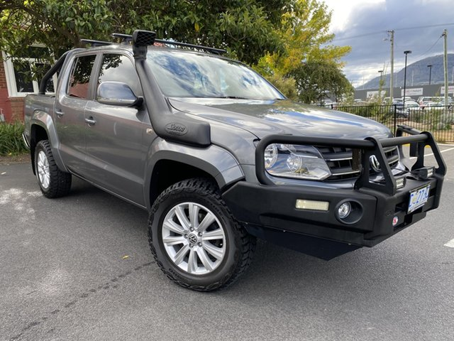 Used Volkswagen Amarok 2H MY12 TDI400 4Mot Highline Glenorchy, 2011 Volkswagen Amarok 2H MY12 TDI400 4Mot Highline Silver 6 Speed Manual Utility