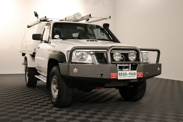 Used Nissan Patrol Y61 Series 5 MY15 DX Acacia Ridge, 2015 Nissan Patrol Y61 Series 5 MY15 DX White 5 speed Manual Cab Chassis