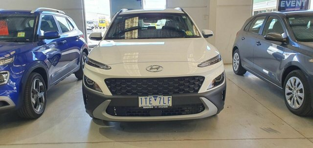 Demo Hyundai Kona Os.v4 MY21 2WD Epsom, 2021 Hyundai Kona Os.v4 MY21 2WD Atlas White 8 Speed Constant Variable Wagon