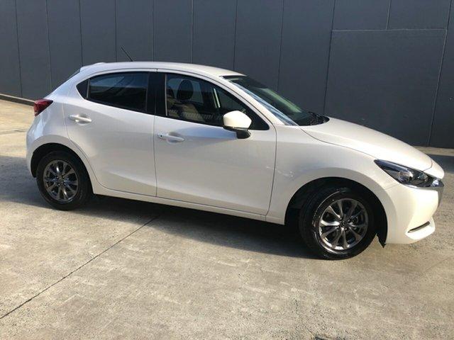 New Mazda 2 DJ2HA6 G15 SKYACTIV-MT Pure Alexandria, 2021 Mazda 2 DJ2HA6 G15 SKYACTIV-MT Pure Snowflake White 6 Speed Manual Hatchback