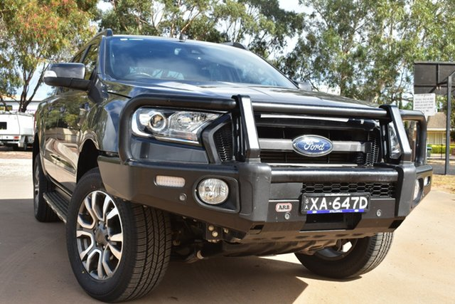 Used Ford Ranger PX MkII 2018.00MY Wildtrak Double Cab St Marys, 2018 Ford Ranger PX MkII 2018.00MY Wildtrak Double Cab Grey 6 Speed Sports Automatic Utility