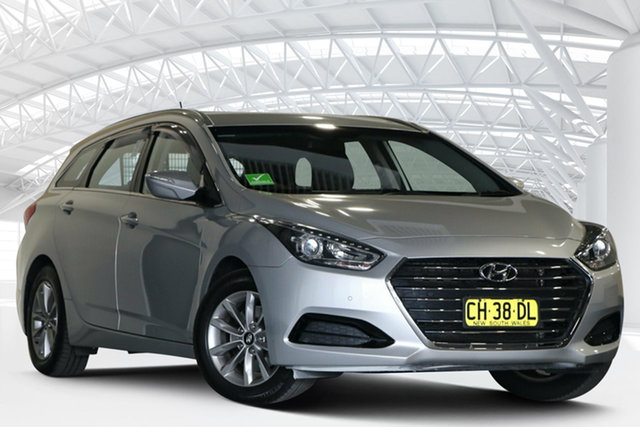 Used Hyundai i40 VF4 Series II Active Tourer Moorebank, 2015 Hyundai i40 VF4 Series II Active Tourer Silver 6 Speed Automatic Wagon