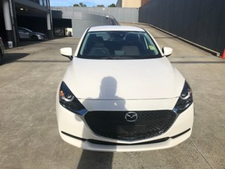 2021 Mazda 2 DJ2HA6 G15 SKYACTIV-MT Pure Snowflake White 6 Speed Manual Hatchback.