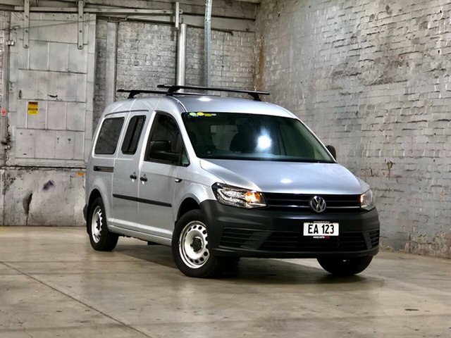 Used Volkswagen Caddy 2KN MY16 TSI220 Maxi DSG Mile End South, 2015 Volkswagen Caddy 2KN MY16 TSI220 Maxi DSG Silver 7 Speed Sports Automatic Dual Clutch Van