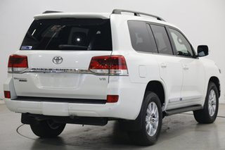 2020 Toyota Landcruiser VDJ200R Sahara Horizon Pearl White 6 Speed Sports Automatic Wagon