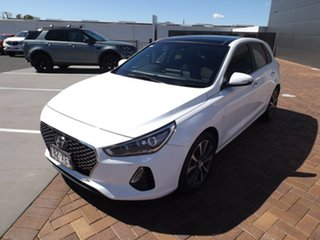 2017 Hyundai i30 GD3 Series II MY17 Premium DCT White 7 Speed Sports Automatic Dual Clutch Hatchback