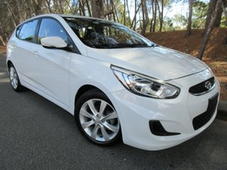 2018 Hyundai Accent RB6 MY18 Sport Chalk White/charcoal 6 Speed Sports Automatic Hatchback.