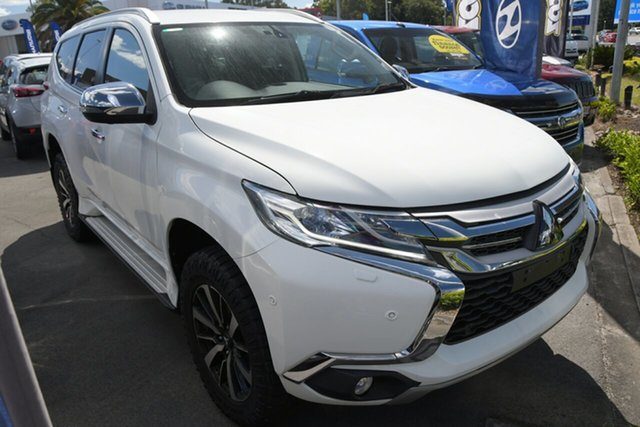 Used Mitsubishi Pajero Sport QE MY18 Exceed Aspley, 2018 Mitsubishi Pajero Sport QE MY18 Exceed White 8 Speed Sports Automatic Wagon